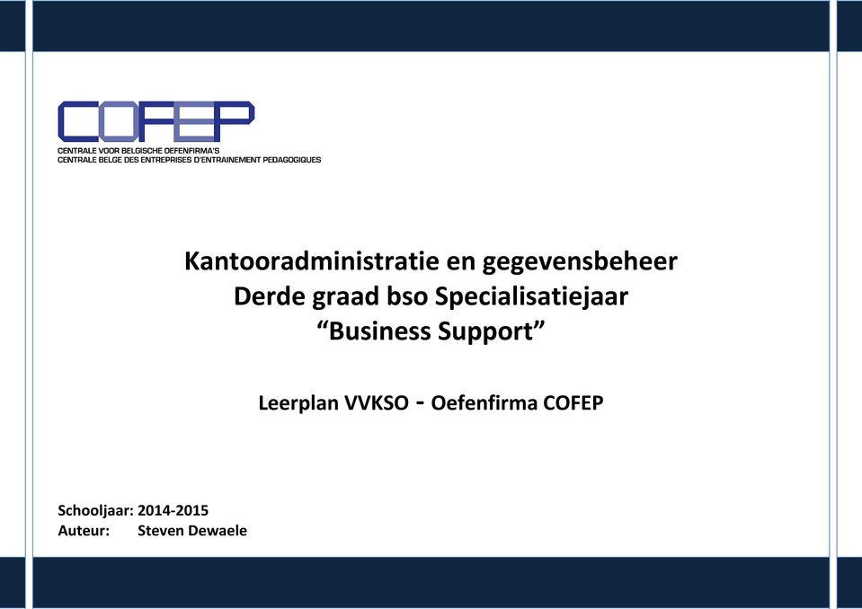 Business Support Leerplan VVKSO - COFEP