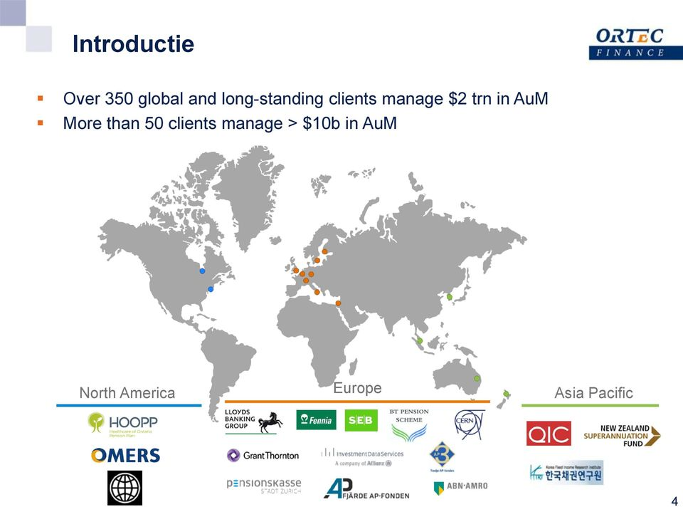 in AuM More than 50 clients manage >