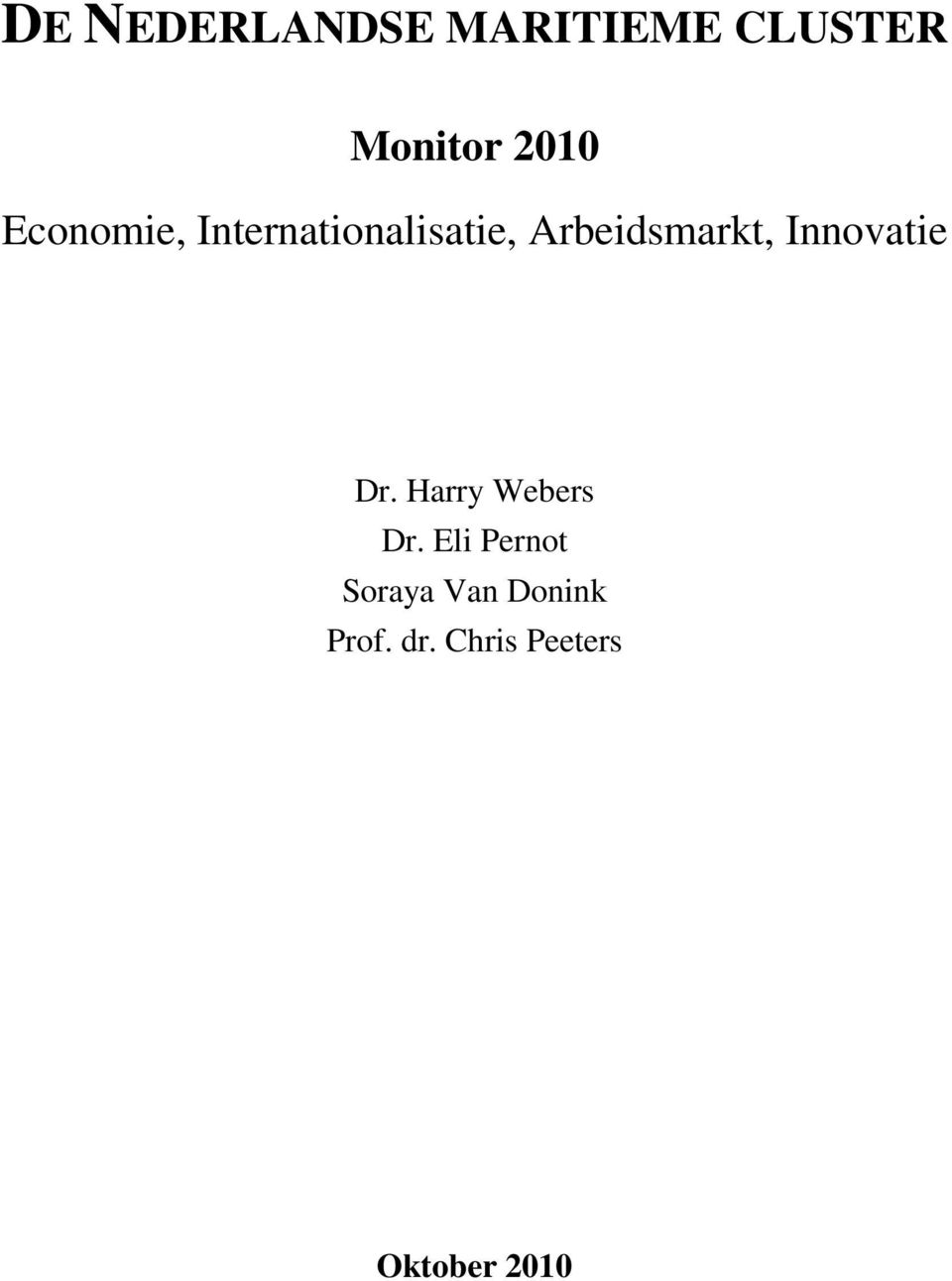 Innovatie Dr. Harry Webers Dr.