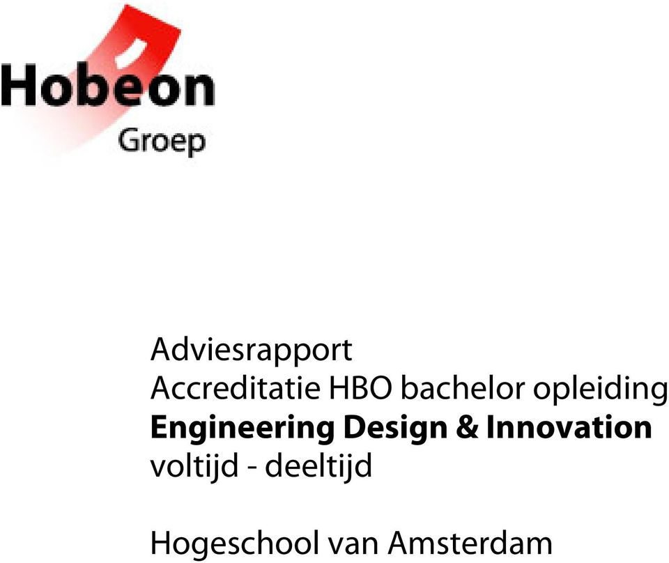 Design & Innovation voltijd -
