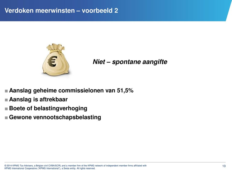commissielonen van 51,5% Aanslag is