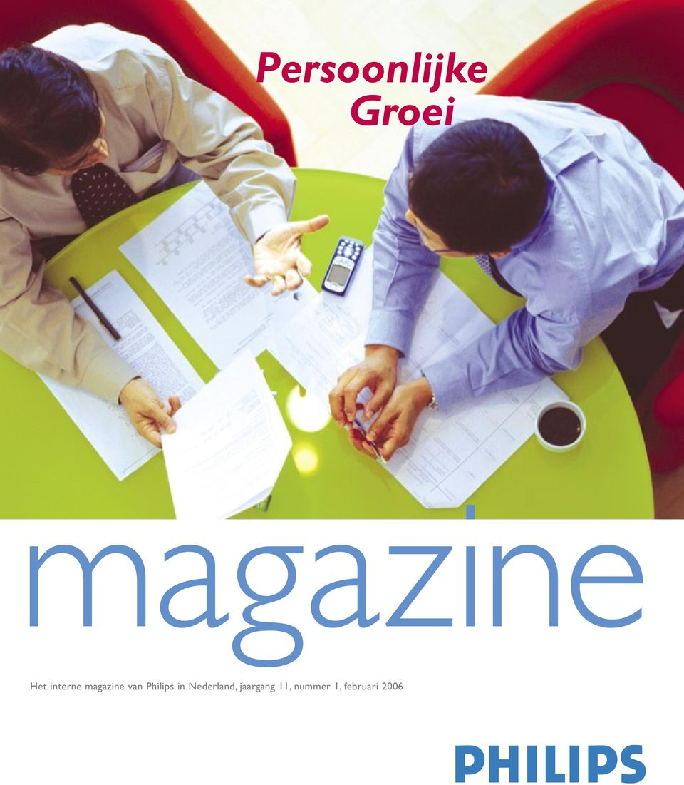 interne magazine van Philips in