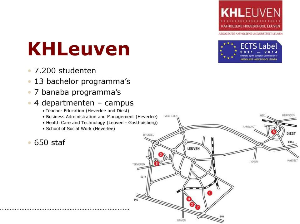 departmenten campus Teacher Education (Heverlee and Diest) Business