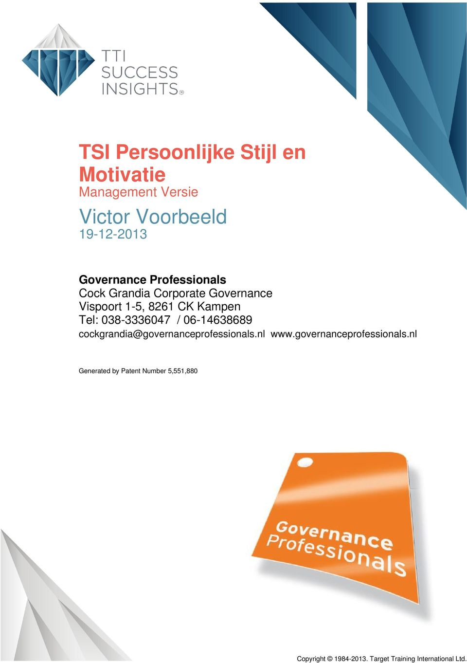 cockgrandia@governanceprofessionals.nl www.