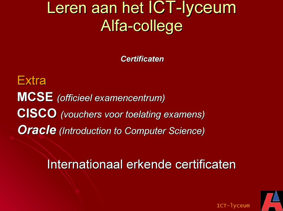 (vouchers voor toelating examens) Oracle