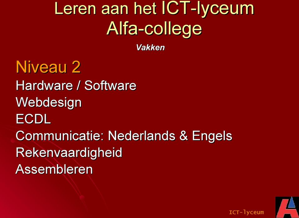 ECDL Communicatie: Nederlands &