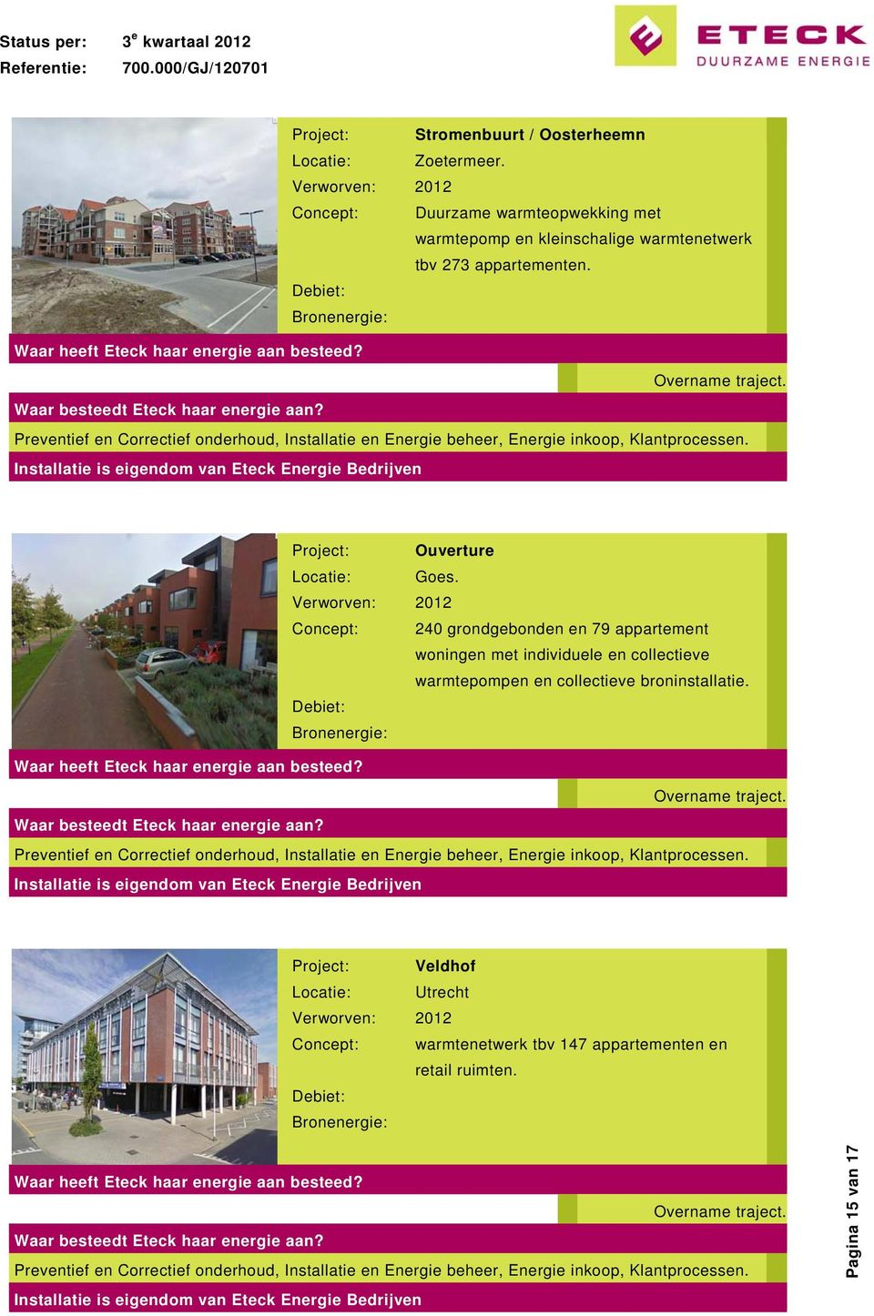 Project: Ouverture Locatie: Goes.