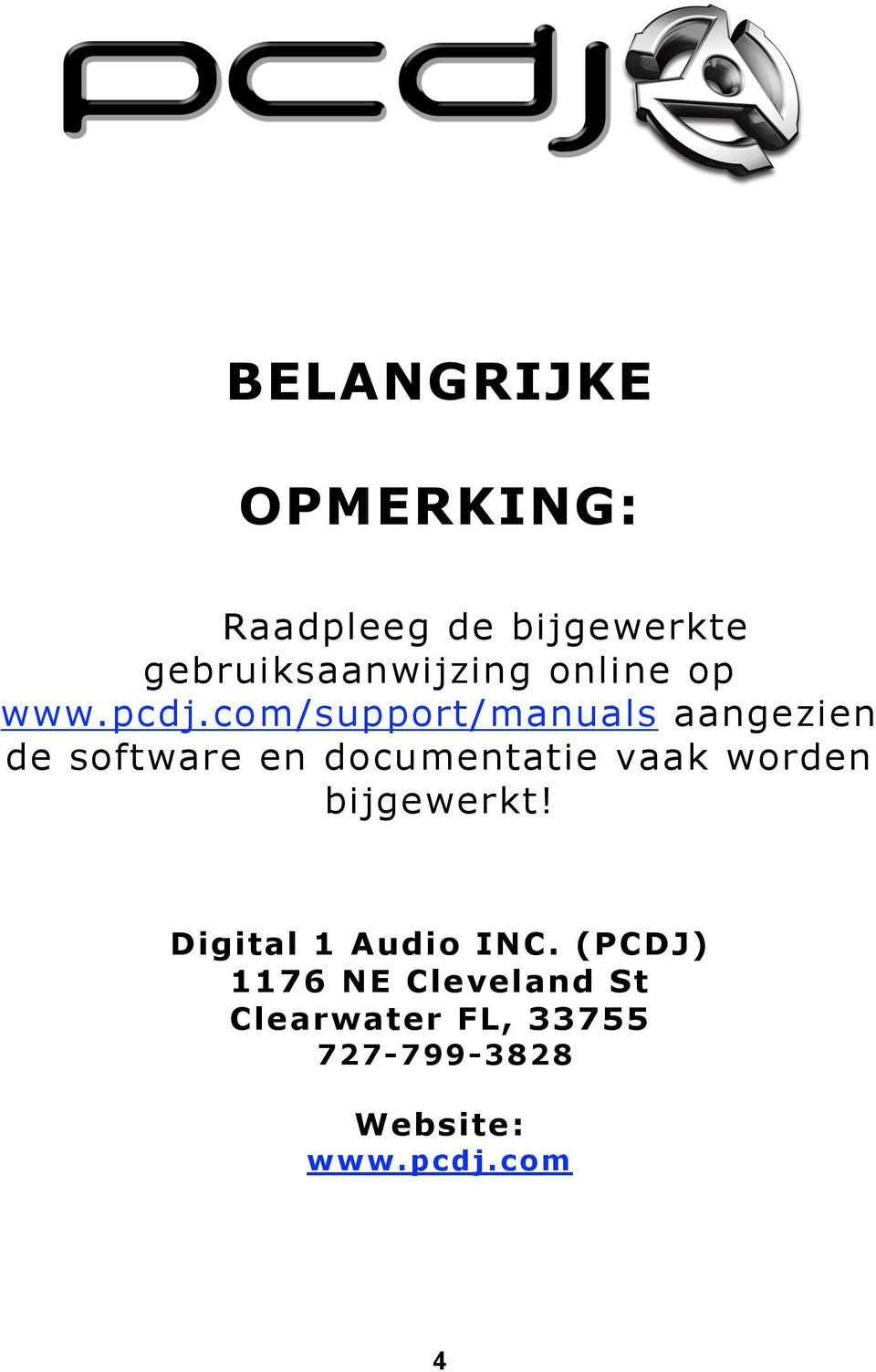 com/support/manuals aangezien de software en documentatie vaak