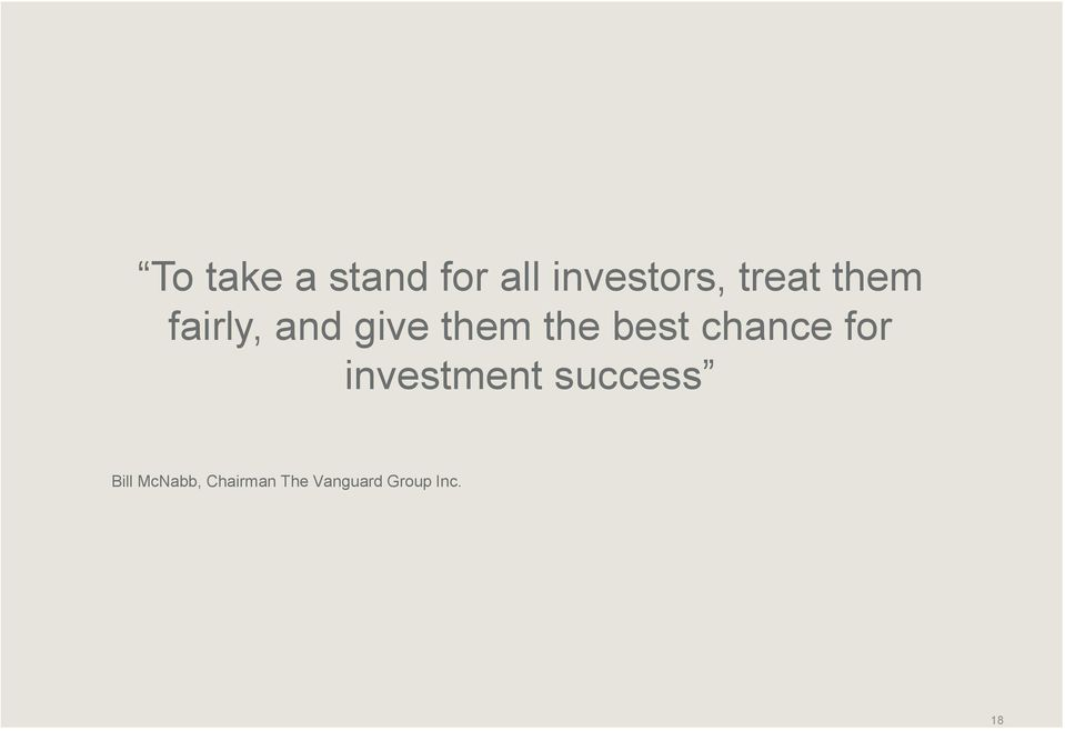 best chance for investment success