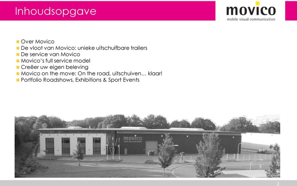 service model Creëer uw eigen beleving Movico on the move: On
