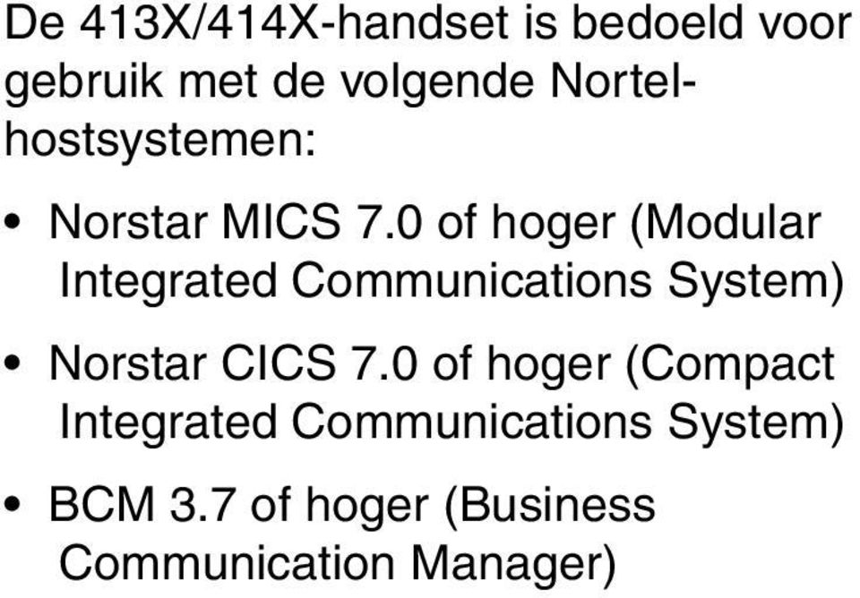 0 of hoger (Modular Integrated Communications System) Norstar CICS