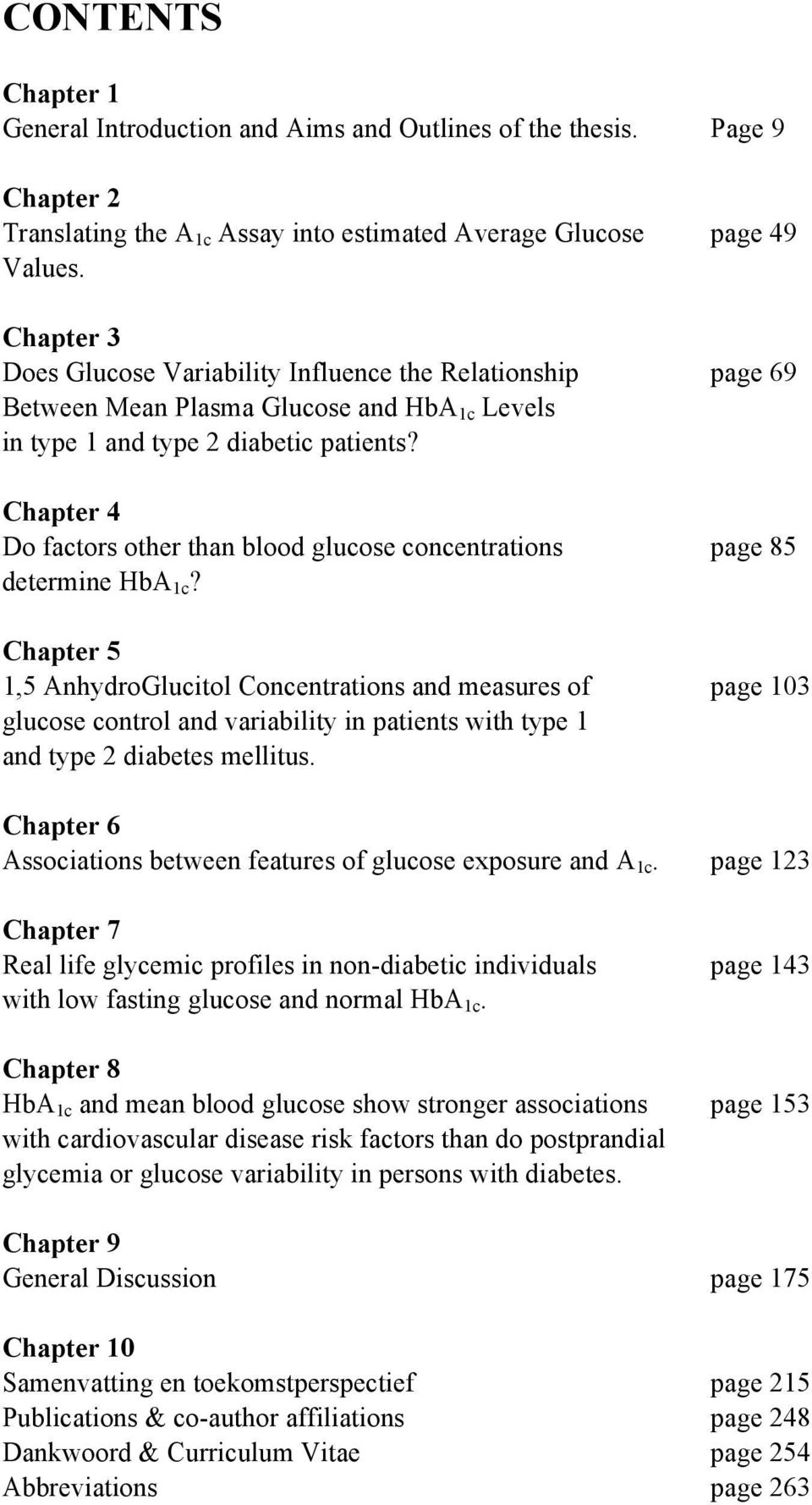 Chapter 4 Do factors other than blood glucose concentrations page 85 determine HbA 1c?