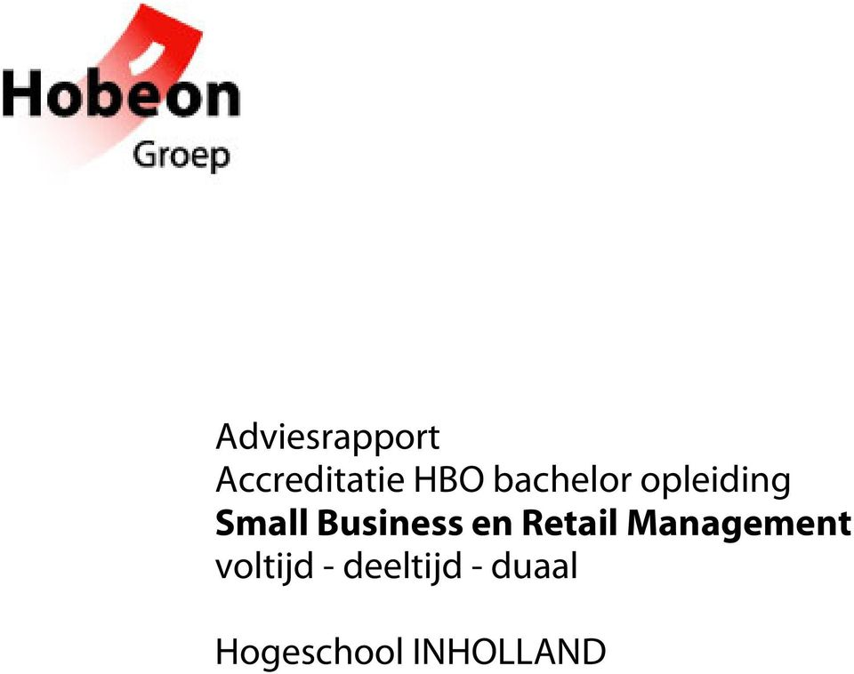 en Retail Management voltijd -