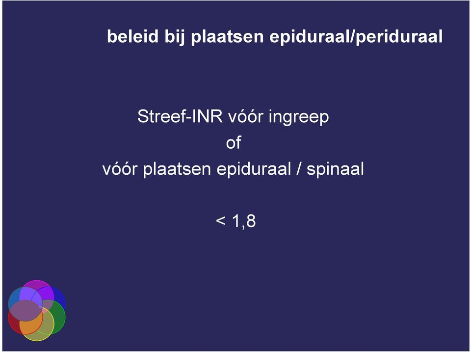 Streef-INR vóór ingreep of
