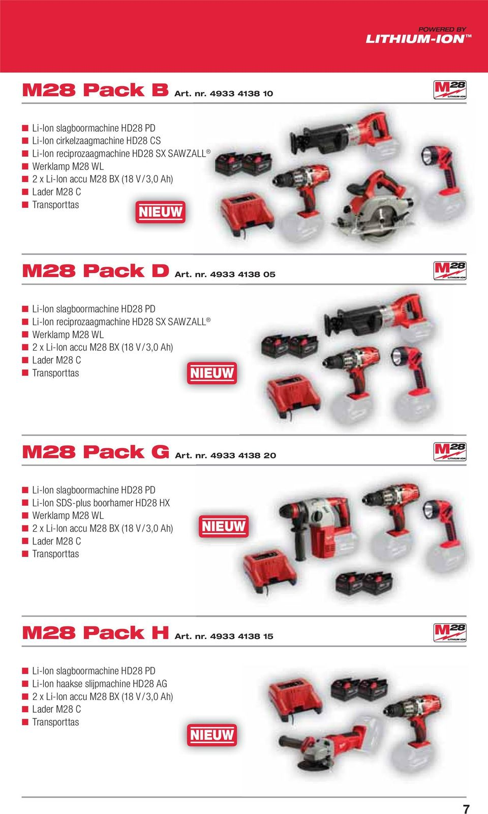 Transporttas M28 Pack D Art. nr.