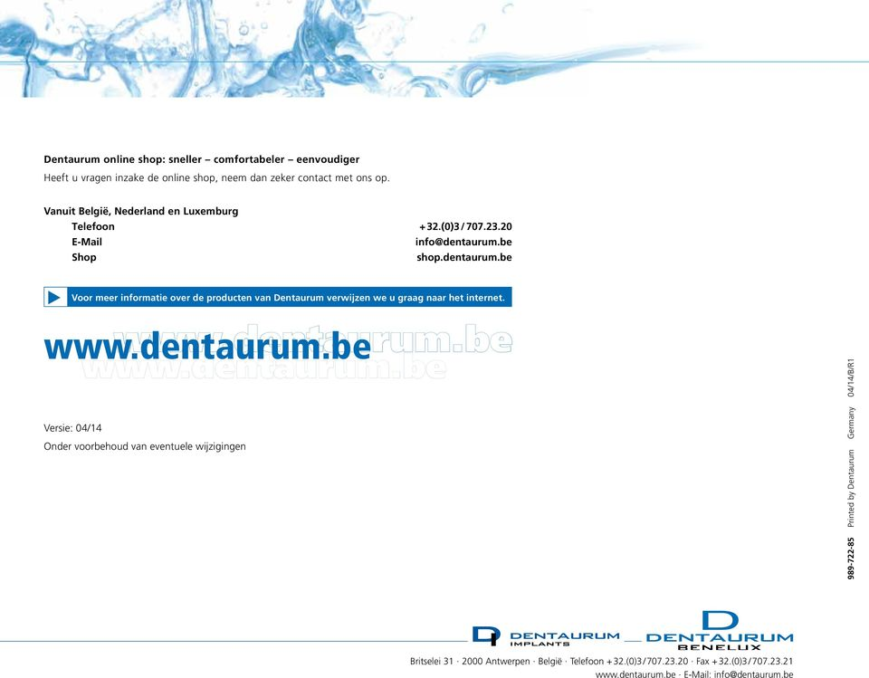 be Shop shop.dentarm.