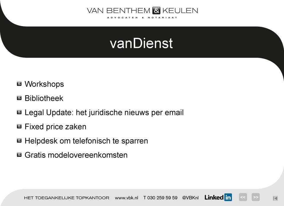 Fixed price zaken Helpdesk om