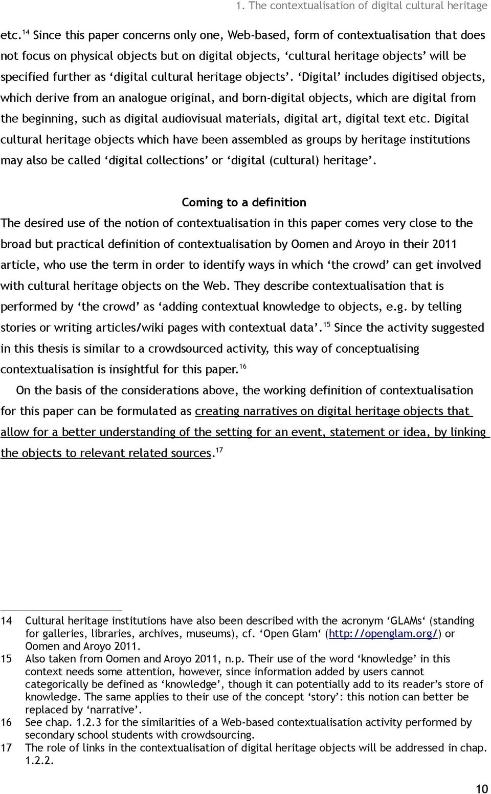 digital cultural heritage objects.
