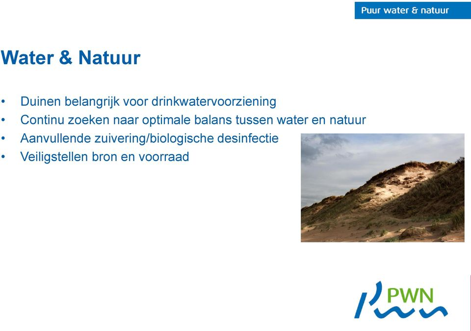 optimale balans tussen water en natuur