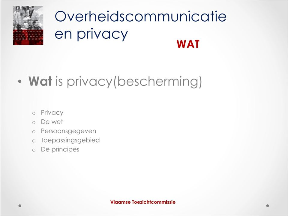 Privacy o De wet o