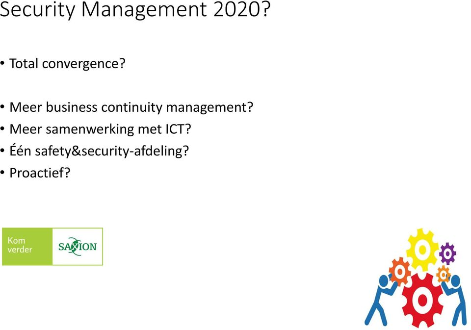 Meer business continuity management?