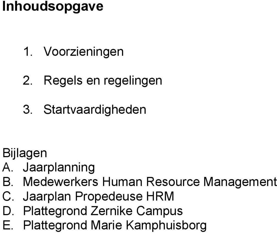 Medewerkers Human Resource Management C.