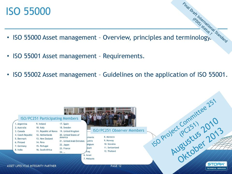 ISO 55002 Asset management Guidelines on the application of ISO