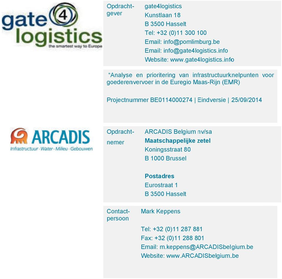 info Website: www.gate4logistics.