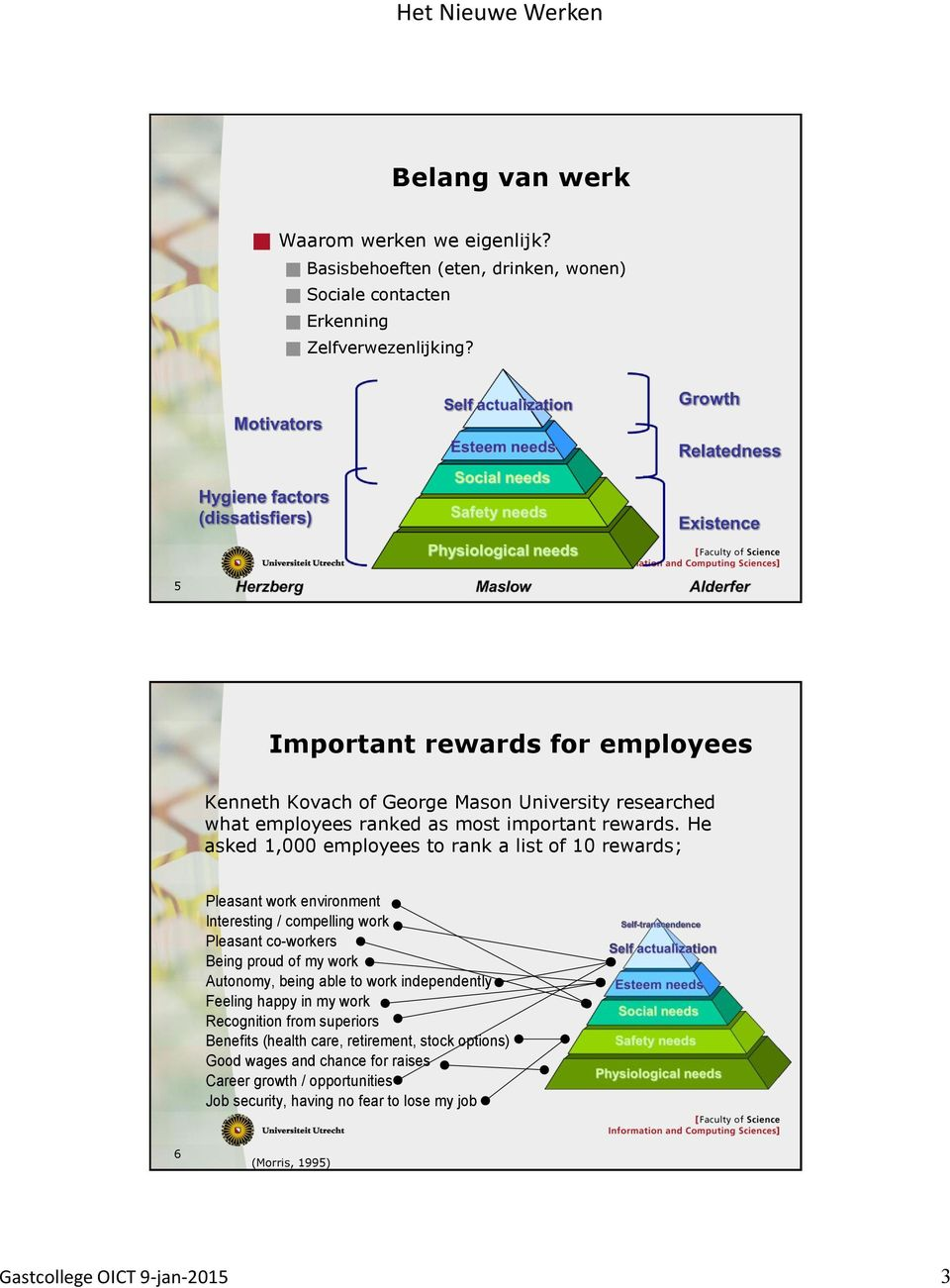 He asked 1,000 employees to rank a list of 10 rewards; ne gs e organization es onal problems.