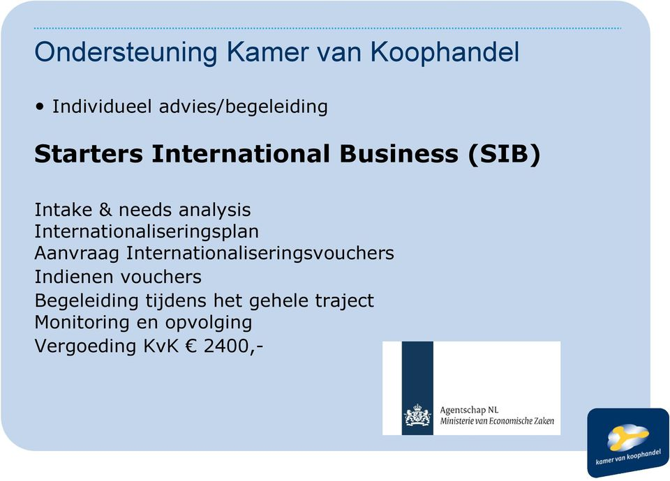 Internationaliseringsplan Aanvraag Internationaliseringsvouchers Indienen