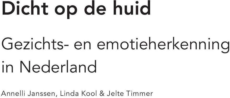 emotieherkenning in