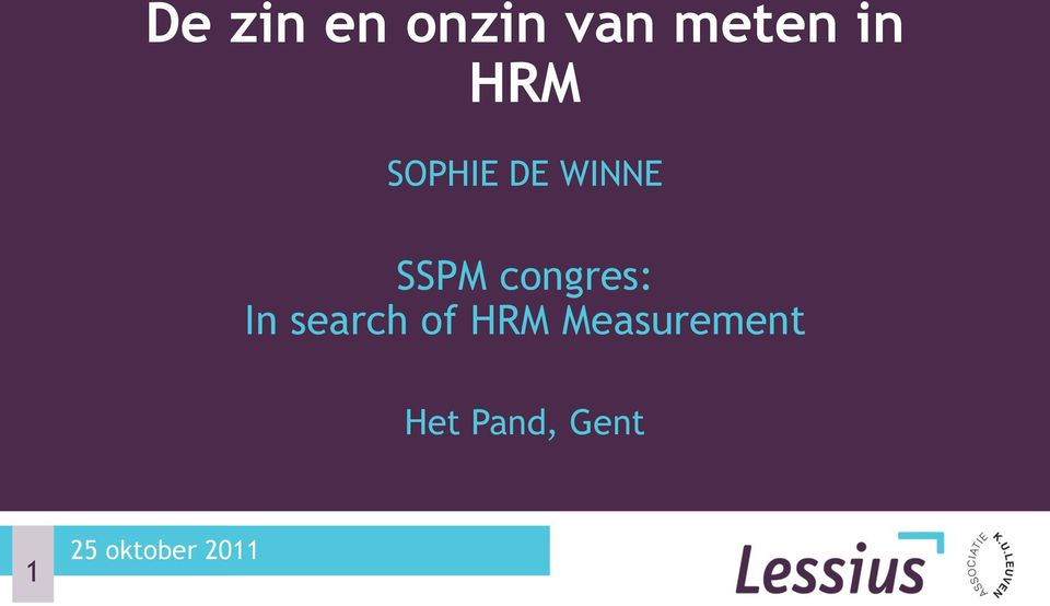 congres: In search of HRM