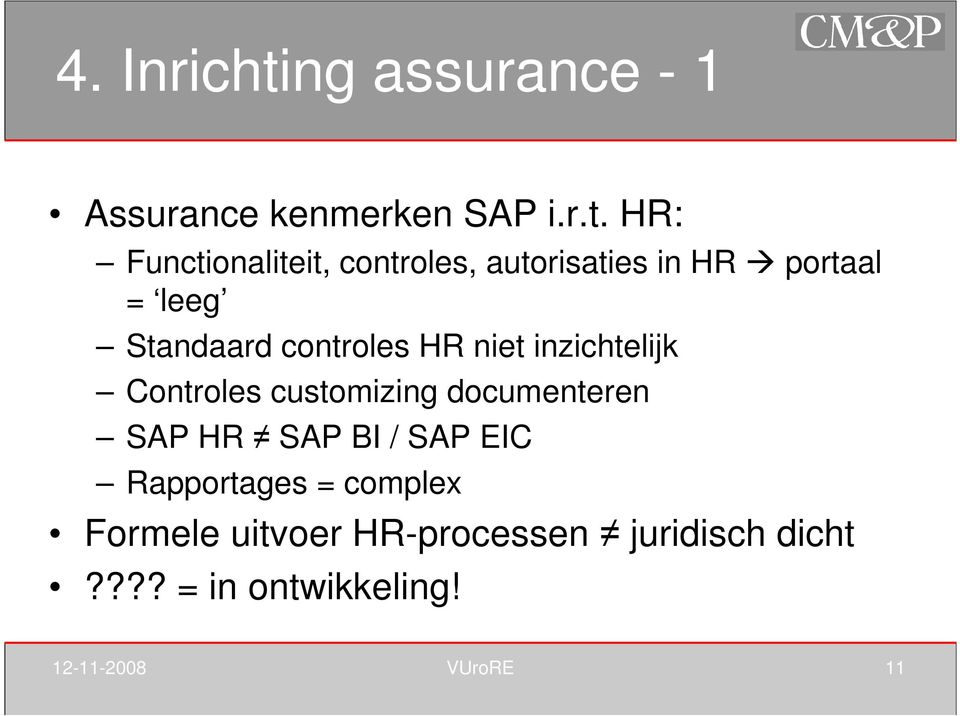 HR: Functionaliteit, controles, autorisaties in HR portaal = leeg Standaard