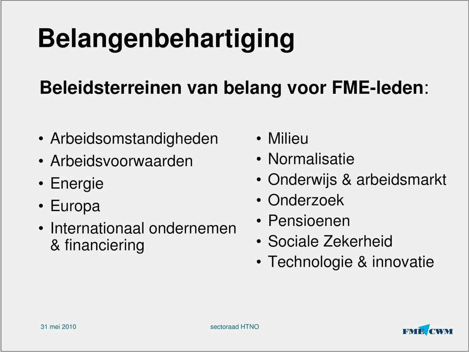Internationaal ondernemen & financiering Milieu Normalisatie