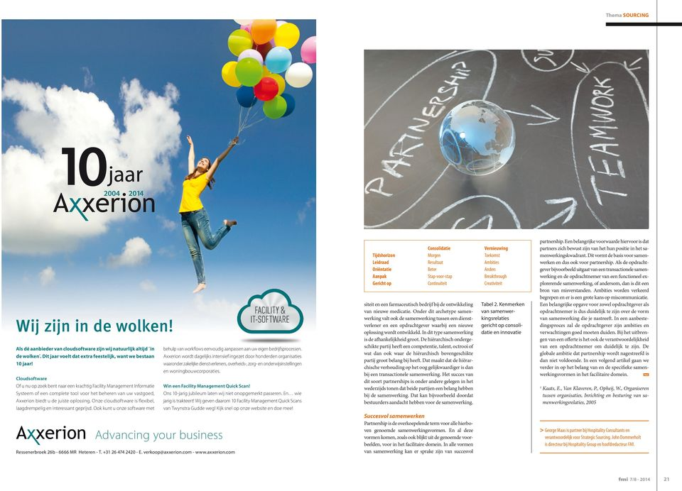 Cloudsoftware Of u nu op zoek bent naar een krachtig Facility Management Informatie Win een Facility Management Quick Scan!