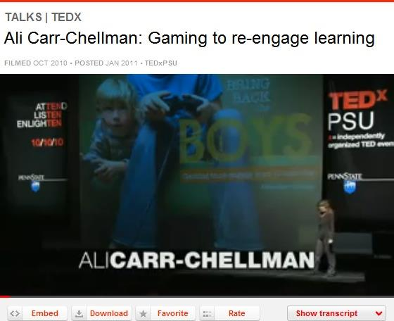 TED TALKS URL: http://www.ted.