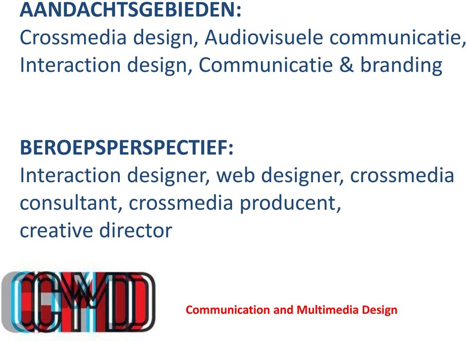 Interaction designer, web designer, crossmedia consultant,