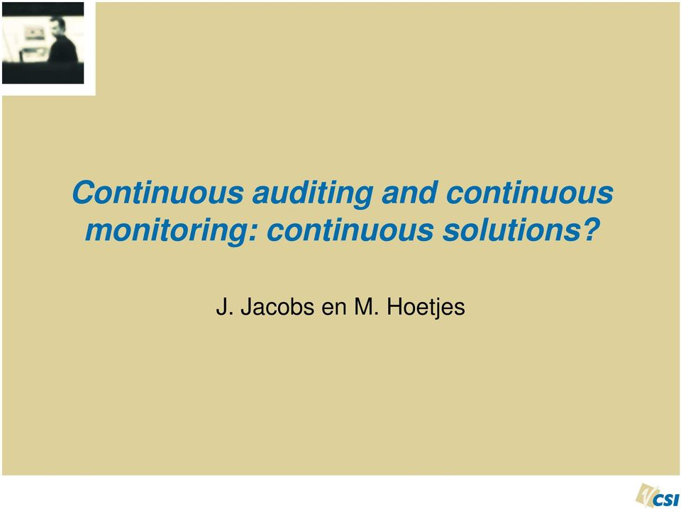 monitoring: continuous