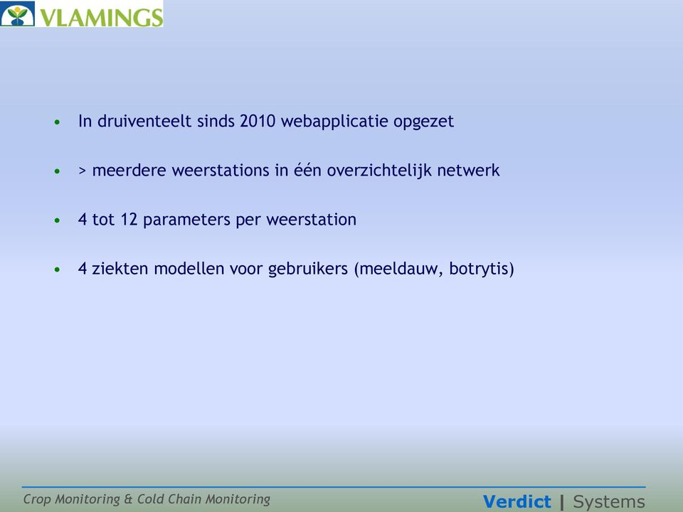 netwerk 4 tot 12 parameters per weerstation 4