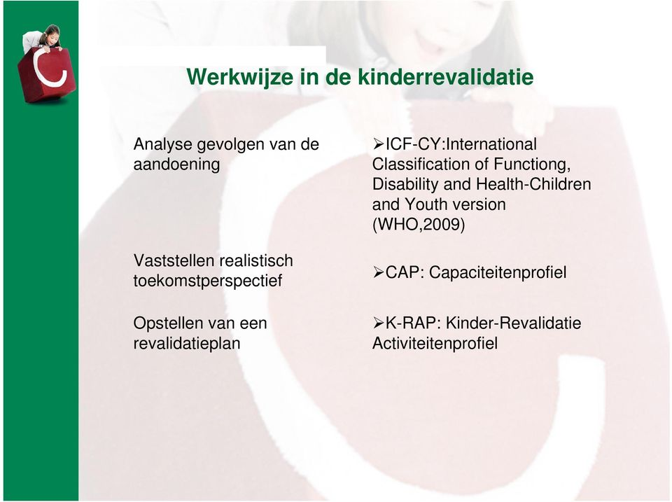 ICF-CY:International Classification of Functiong, Disability and Health-Children
