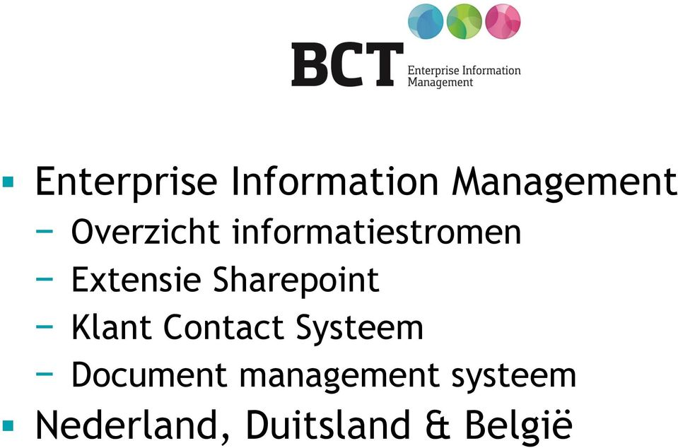 Sharepoint Klant Contact Systeem