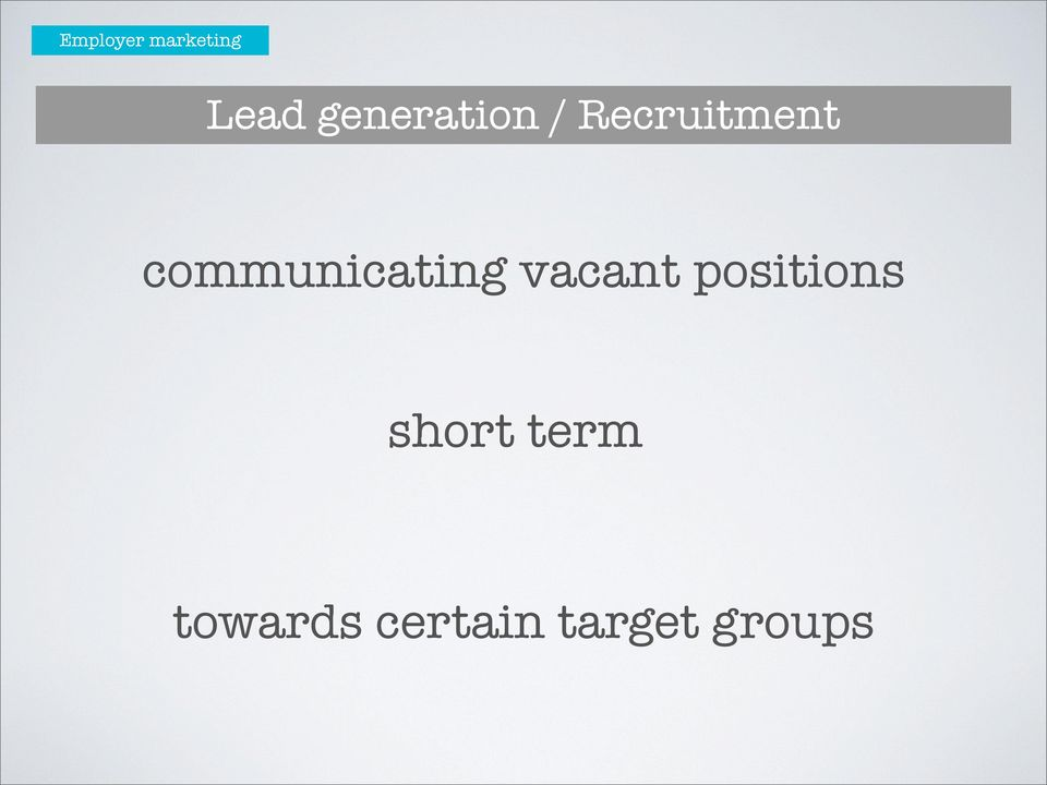 communicating vacant
