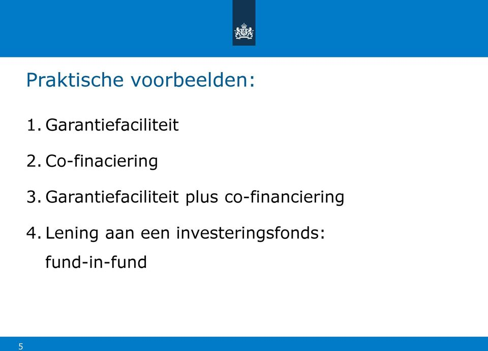 Garantiefaciliteit plus co-financiering