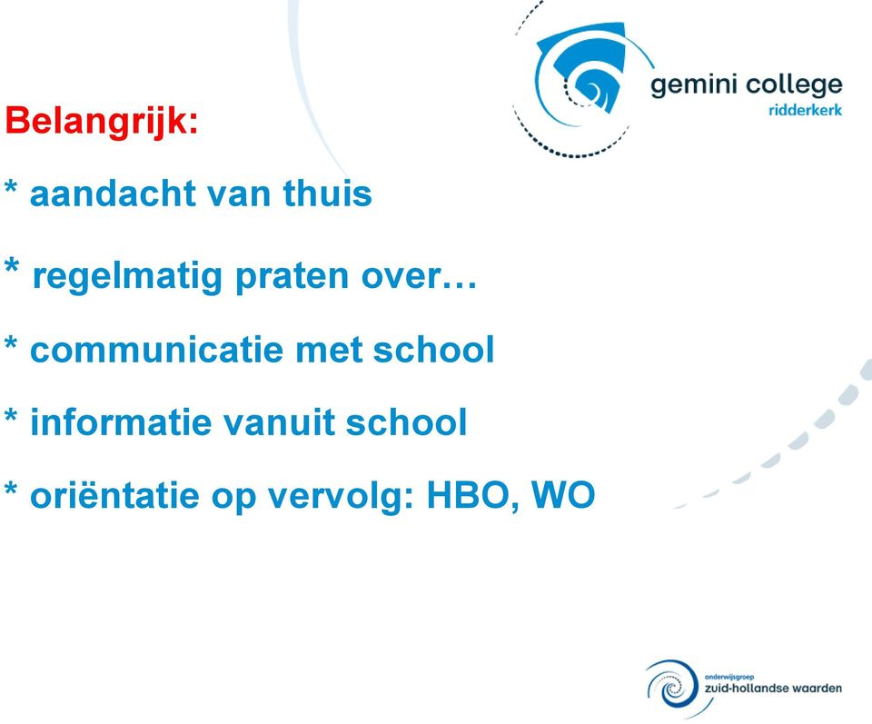 communicatie met school *