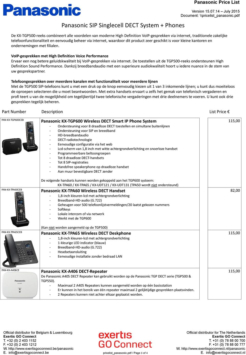 panasonic dect repeater kx a405 manual