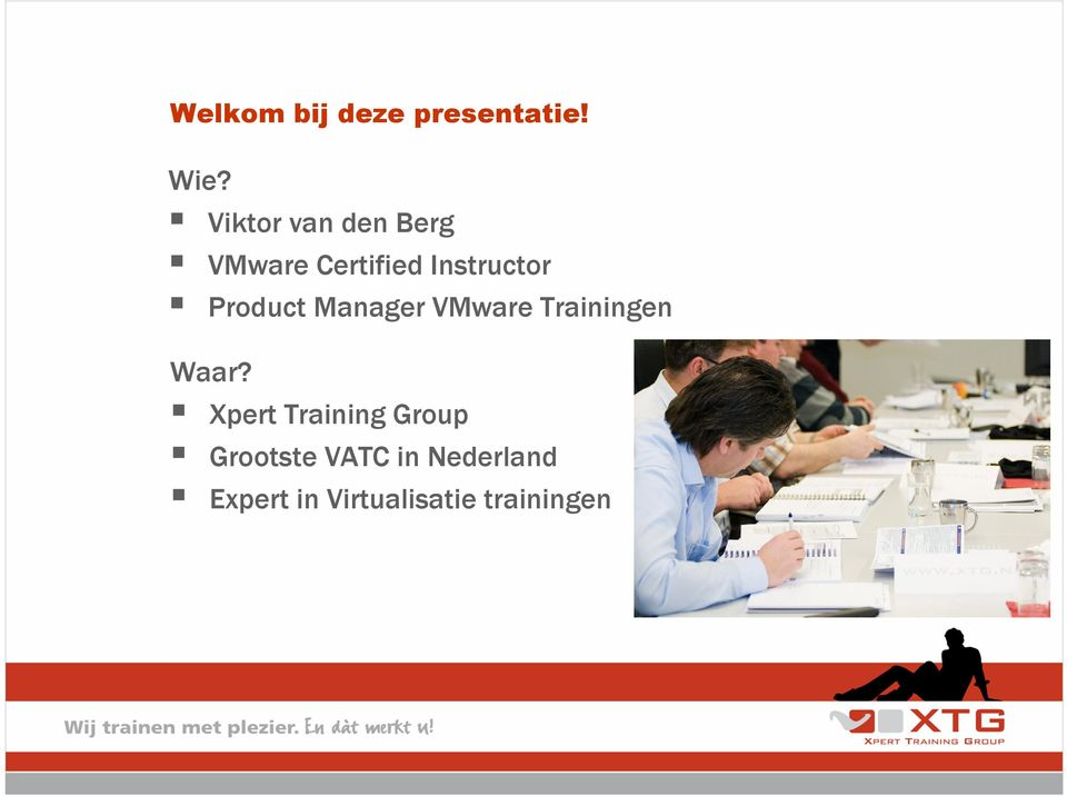 Product Manager VMware Trainingen Waar?