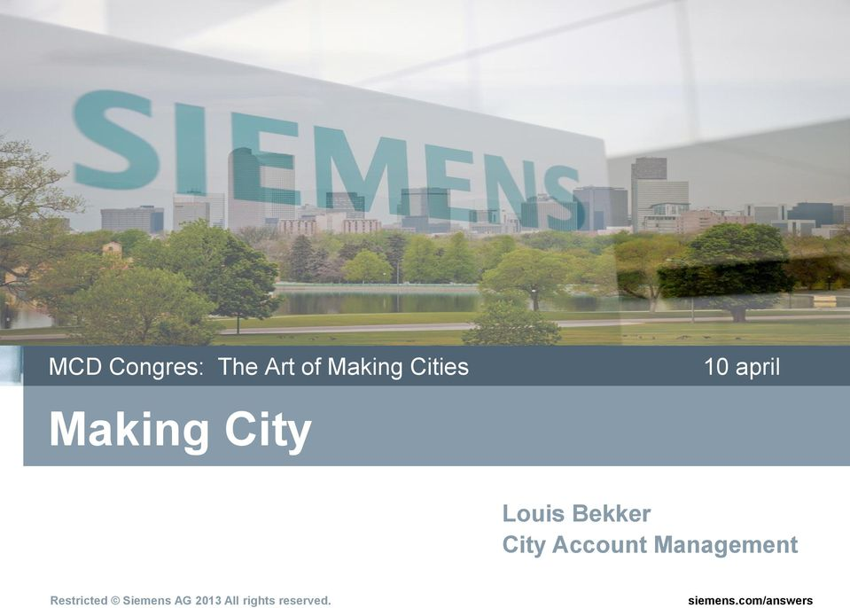 Making City Louis Bekker