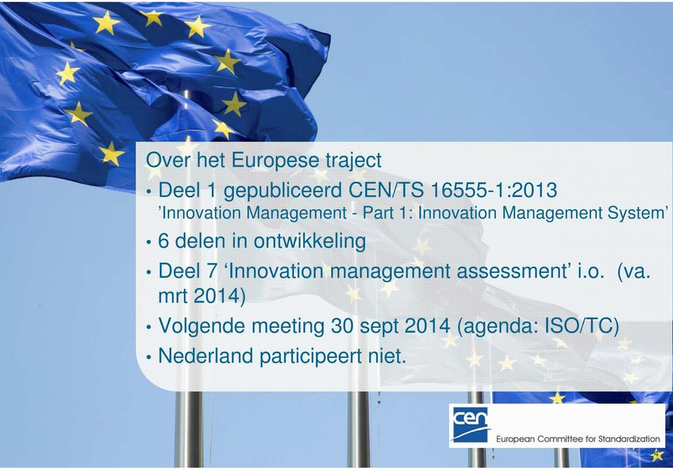 ontwikkeling Deel 7 Innovation management assessment i.o. (va.