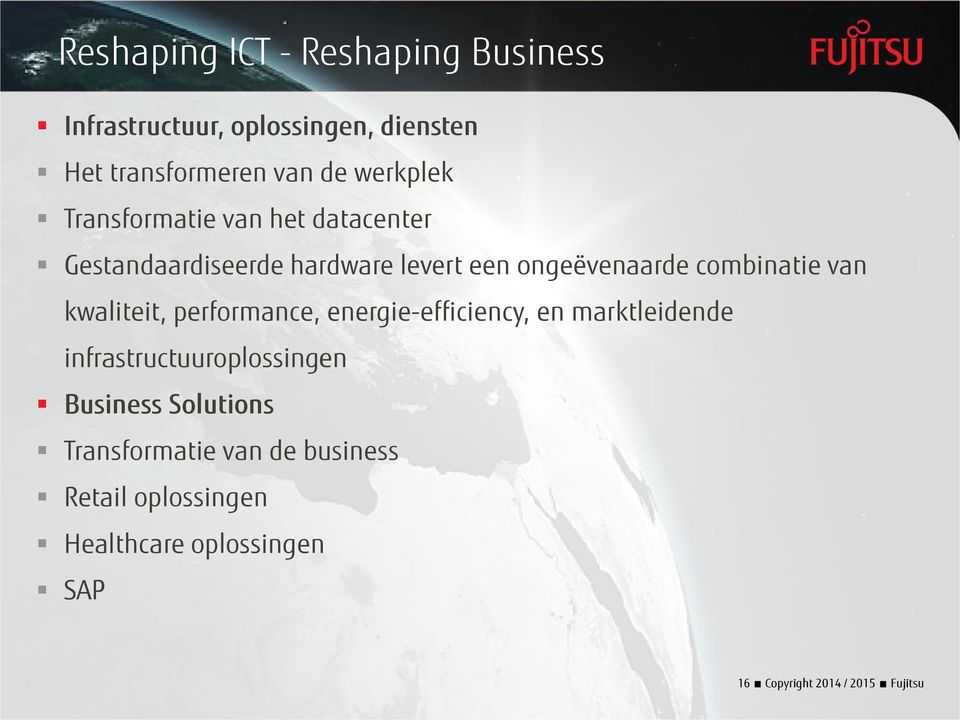 van kwaliteit, performance, energie-efficiency, en marktleidende infrastructuuroplossingen Business