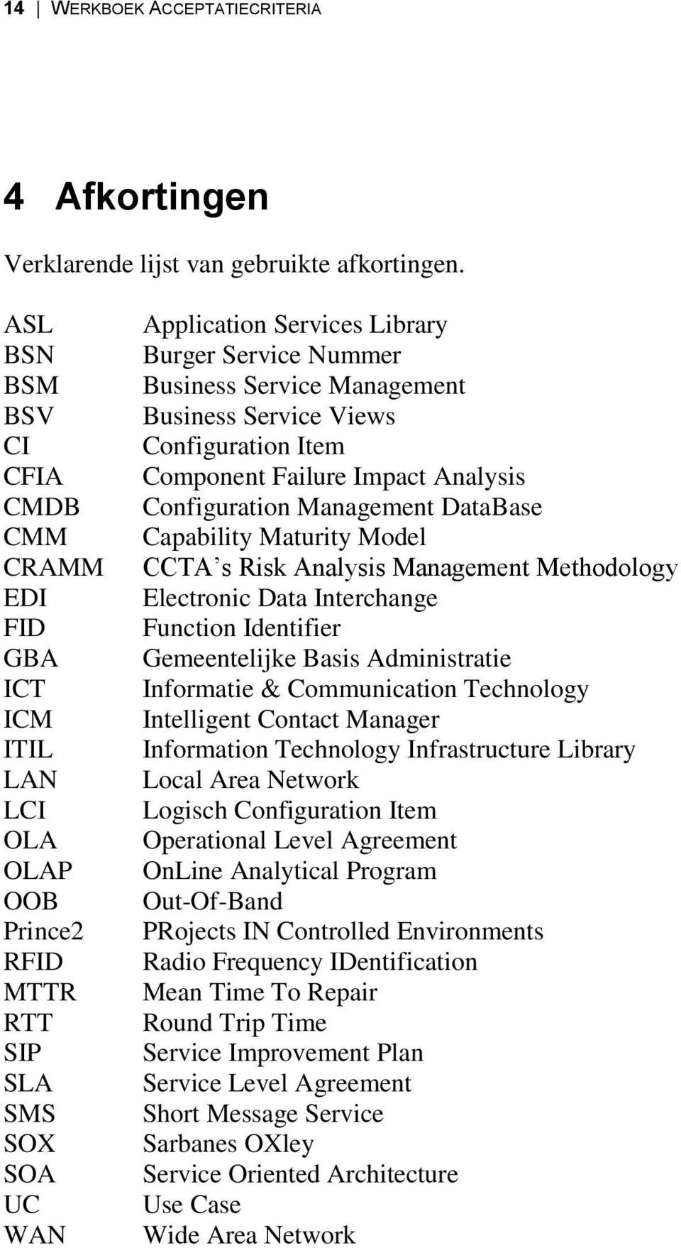 Service Management Business Service Views Configuration Item Component Failure Impact Analysis Configuration Management DataBase Capability Maturity Model CCTA s Risk Analysis Management Methodology